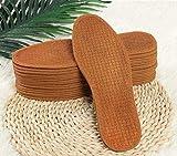 [yaya] 強力な消臭剤と吸汗性のあるすべて天然のヤシの木繊維メンズインソール5ダブルチワン(10個)