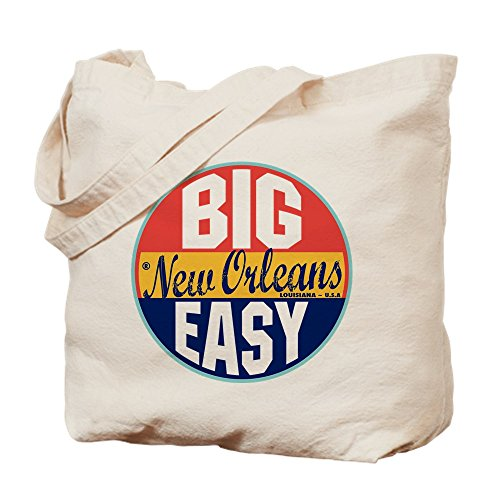 New Orleans Shopping (CafePress New Orleans Vintage Label Natural Canvas Tote Bag, Reusable Shopping)