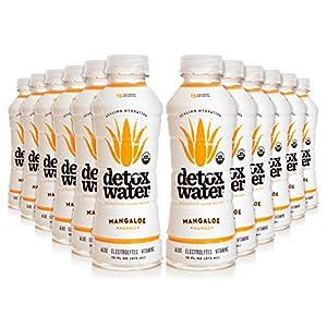 detoxwater™ Bioactive Aloe Water Mangaloe Mango 16 Fluid Ounces, Pack of 12