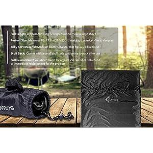 Vumos Sleeping Bag Liner and Camping Sheet – Use as a Lightweight Sleep Sack When You Travel - Has Full Length Zipper