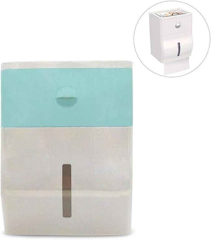 FOONEE organizador de papel higiénico, organizador de caja de pañuelos de baño, almacenamiento superior, cajón de gran capacidad, resistente al agua y antihumedad, soporte para teléfono móvil/iPad: Amazon.es: Hogar