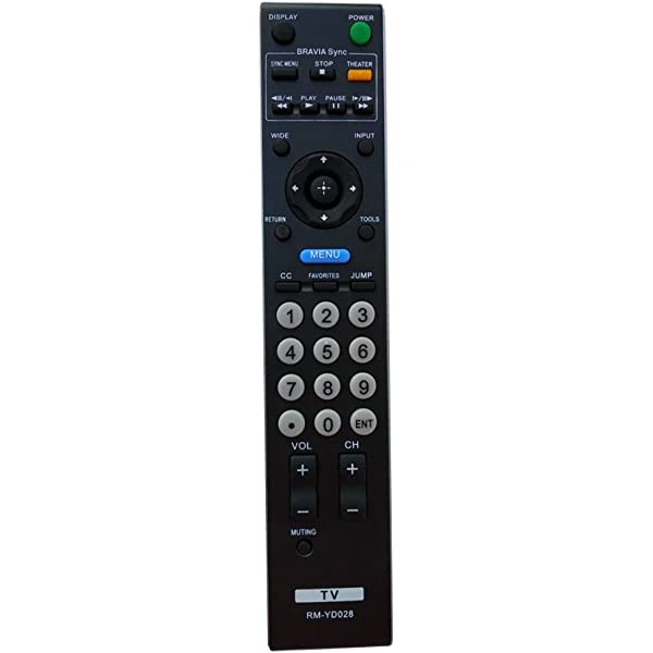Universal Remote Control For Sony Tv Rm Yd028 Rmyd028 Kdl 32l5000 Kdl 40s5100 Kdl 46s5100 Amazon Ca Electronics