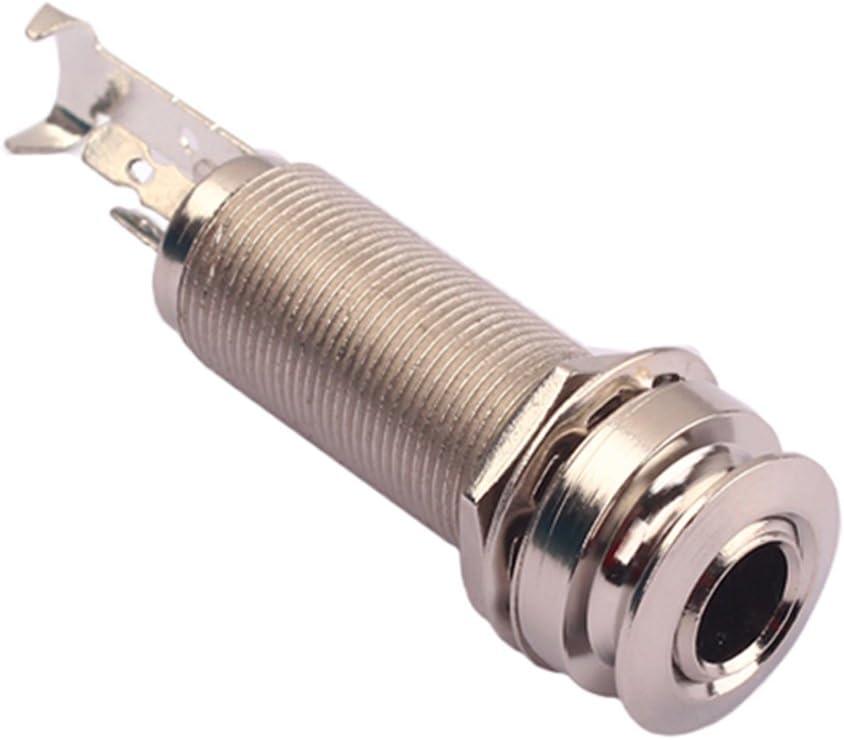 1 Pcs Messing Gewinder Zylinder Endpin Jack Buchse 12mm für Gitarren