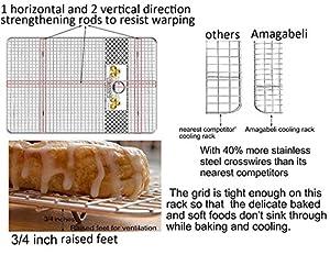 """Amagabeli Pan and Mat (Cooling Rack 12""""x17"""")"""