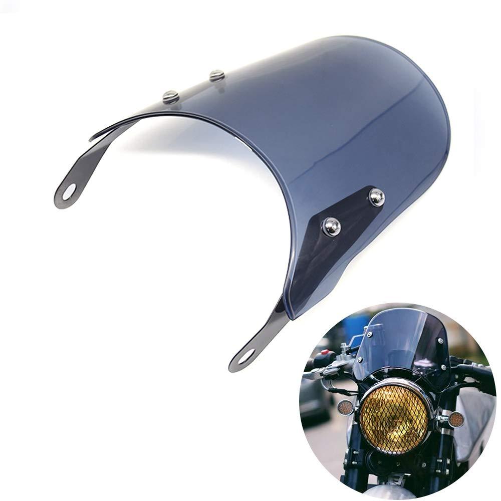 Smoke Motorcycle Windshield Windscreen Compatible for Triumph Bonneville 2001-2017,T100 2003-2017