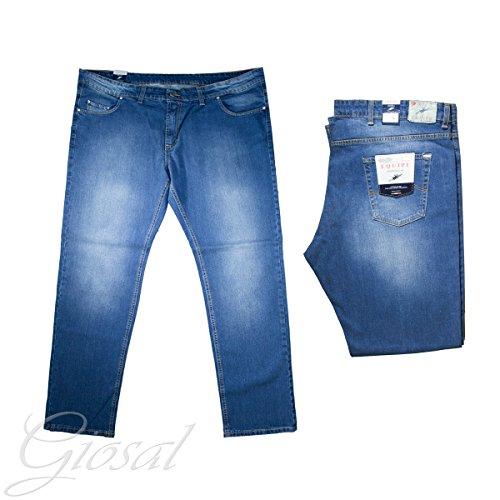 Pantalone Uomo Equipe Comfort Calibrato Denim Jeans Taglie Forti GIOSAL
