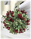 Ganz 5 Inch Mistletoe Kissing Ball Ornament