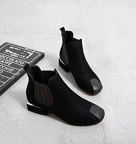 5 Con Retro Negro Espeso Invierno Martin Zapatos E Botas 37 Chelsea Algodón 3 Negro Botas Lana Nuevas El Mujer Otoño Cm KHSKX Zapatos Botas De Zqz65OBWgw