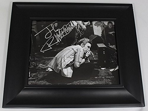 Sex Pistols Never Mind the Bullocks, Here's the Sex Pistols John Lydon Johnny Rotten Authentic Signed Autographed B/W 8x10 Glossy Photo Gallery Framed Loa