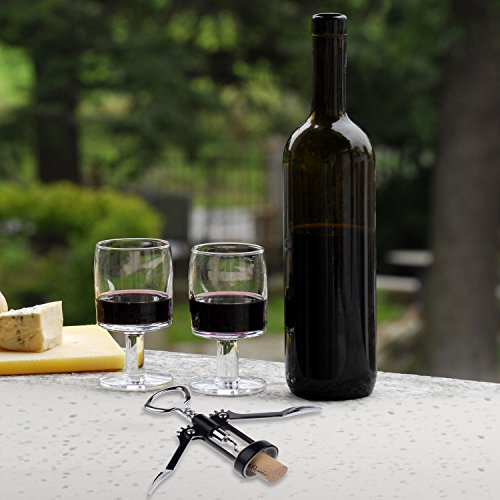 Corkscrew wine opener classic two arm design optimal balance and control when removing corks - Wine bottle balancer plans ...