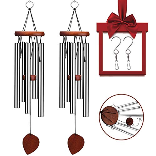 VenKoda 2 Pack Amazing Grace Wind Chimes Outdoor Personalized Sympathy Wind Chime Memorial Mother Gifts Metal Garden Decoration Patio Porch Bell Wind Chime Large for Friend and Family-24 Inch