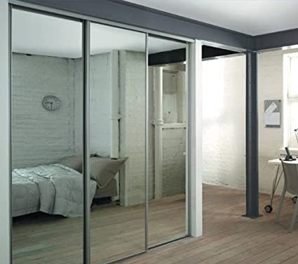 Spacepro Silver Mirror Sliding Door Triple Pack Interior Storage Up To 1780mm 5ft 10ins Wide