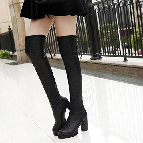 Chaussures Femmes cuir Bottes Bottes en Cuissardes x7qwCOnZY