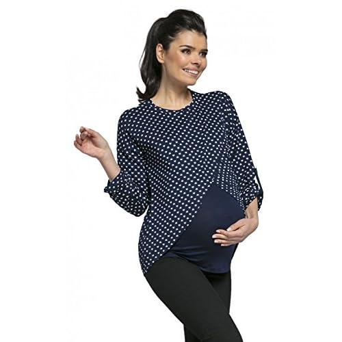 521f72047f4 outlet HAPPY MAMA Para Mujer Top Cruzado Diseño de Capa Premamá y de  Lactancia.600p