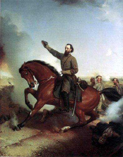 "Louis-Mathieu-didier Guillaume Stonewall Jackson at the Battle of Winchester Virginia - 18"" x 24"" Premium Canvas Print"