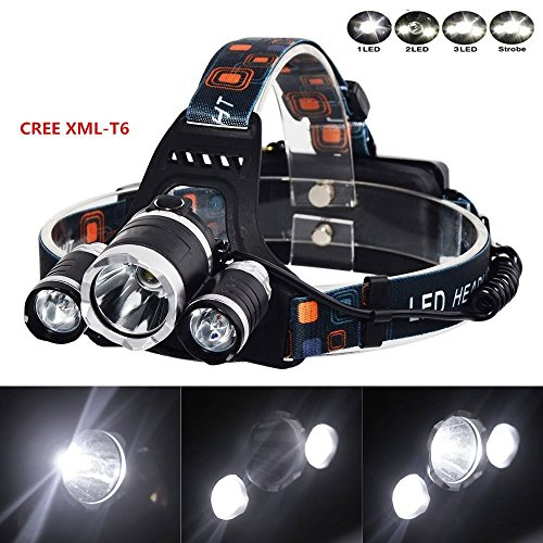2000Lm CREE XML T6 Headlight Headlamp 3-mode torch - 5