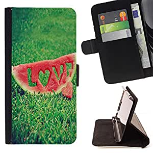 Dragon Case- Caja de la carpeta del caso en folio de cuero del tir¨®n de la cubierta protectora Shell FOR LG Google Nexus 5 E980 D820 D821- Watermelon Fruit Cute