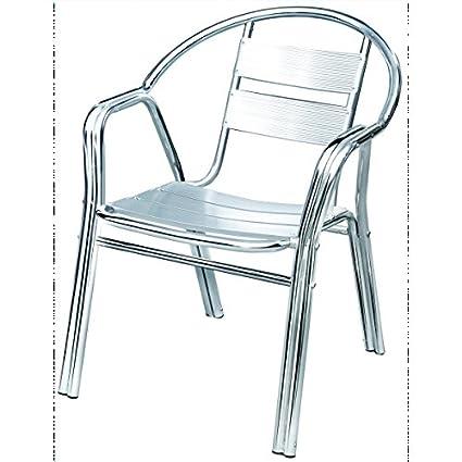 Sedie Bar Alluminio Prezzi.Sedia Da Bar Alluminio Doppio Tubo Rinforzata