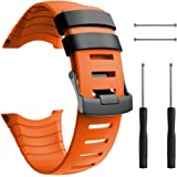 ANCOOL Compatible with Suunto Core Watch Band,Soft TPU Replacement Strap Sport Wristband Metal Clasp for Suunto Core Fitness