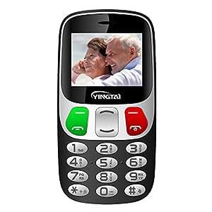 """YINGTAI T47 2G Teléfono Móvil para Personas Mayores con Teclas Grandes, Gran Pantalla 2.4"""", SOS Botones"""