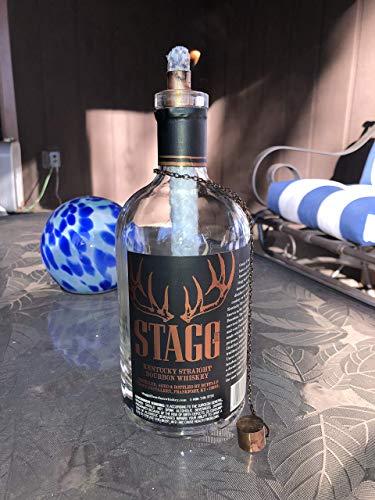 Tiki Torch - Stagg Kentucky Straight Bourbon Whiskey bottle - Oil Lamp - Outdoor Lighting - Garden Decor - Bourbon Decor