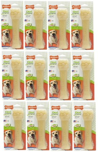 Nylabone Flexi Chew Chicken, Souper 8'' 12 pk by Nylabone