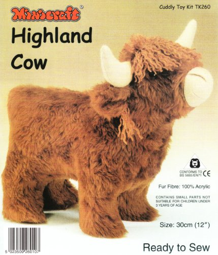 Minicraft TK260 | Highland Cow Ready To Sew Toy Kit | 30cm (12in) by Minicraft