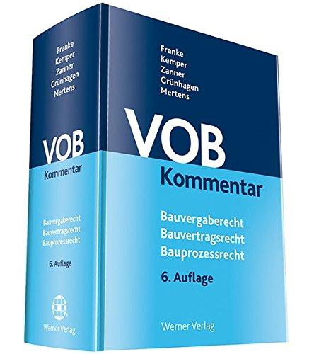 VOB Kommentar  Bauvergaberecht Bauvertragsrecht Bauprozessrecht