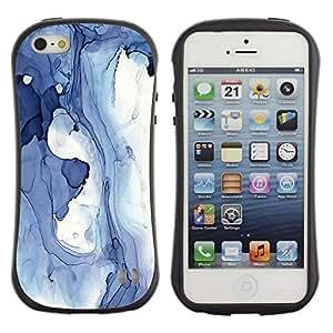 """Hypernova Slim Fit Dual Barniz Protector Caso Case Funda Para Apple iPhone SE / iPhone 5 / iPhone 5S [Abstracto azul Invierno Hielo Lago Líquido Agua""""]"""