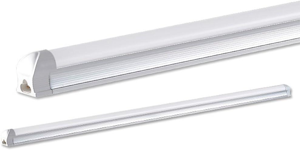 Maidodo 2x T8 G13 Int/égr/é LED Tubes Fluorescents Lampe 120cm 18W 1620LM 96SMD Blanc Froid 6000-6500K Couverture Blanche