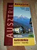 Austria and Bavaria Road Map with Index Showing Ski Resorts / 1:500000 / Osterreich und Bayern Autokarte / Ausztria es Bajororszag Autosterkep