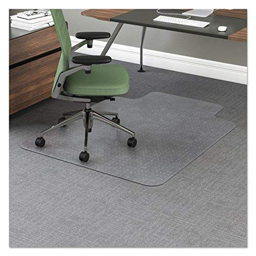 Reliatronic Office Chair Mat for Carpeted Floors, 36''x48'' Desk Chair Mat with Lip, Suitable for Low/Medium Pile Carpet, Transparent