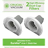 2 Dust Cup Style Filters for Eureka 160A, 166 and 92A 4-in-1 Stick Vac Vacuums; Compare to Eureka Part Nos. 60796; Designed & Engineered by Think Crucial
