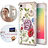 iPhone 6/6S/7/8 Case, TiTiShark Premium Anti Gravity Protective Case [Hands-Free Case], Floral Garden Design Interior Printed Clear Case for Apple iPhone 6/6S/7/8