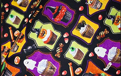 Monster Mash - Halloween - Robert Kaufman - AKO-72849-2 - Black - Robert Kaufman -