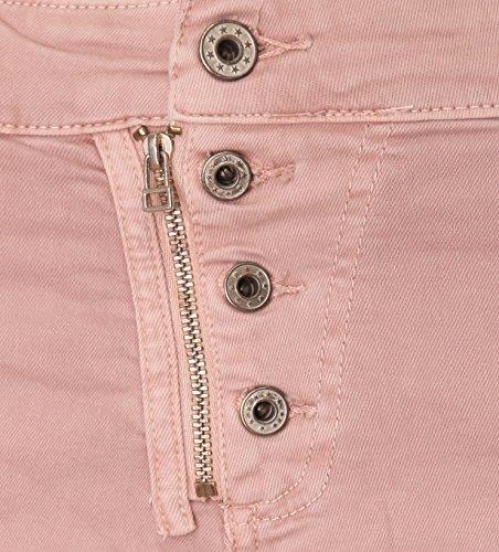 de 4 reißverschluss Rosa shorts knopf Bermuda Basic dpwxCI7Oqq
