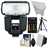 Nissin Digital i60A Air Wireless Zoom Flash with Tripod + Soft Box + Reflector + Batteries & Charger + Kit for Sony Alpha Cameras