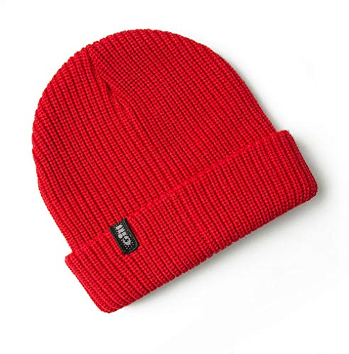- Gill Floating Knit Red Beanie, One Size
