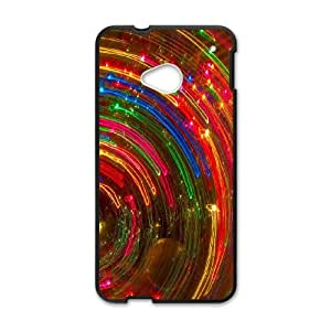 Colorful Fantasy Trippy HTC One M7 Cell Phone Case Black LMS3877684