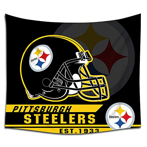 Jacoci Pittsburgh Steelers Wall Tapestry Hanging Cool Design for Bedroom Living Room Dorm Handicrafts Curtain Home Decor Size 50x60 -