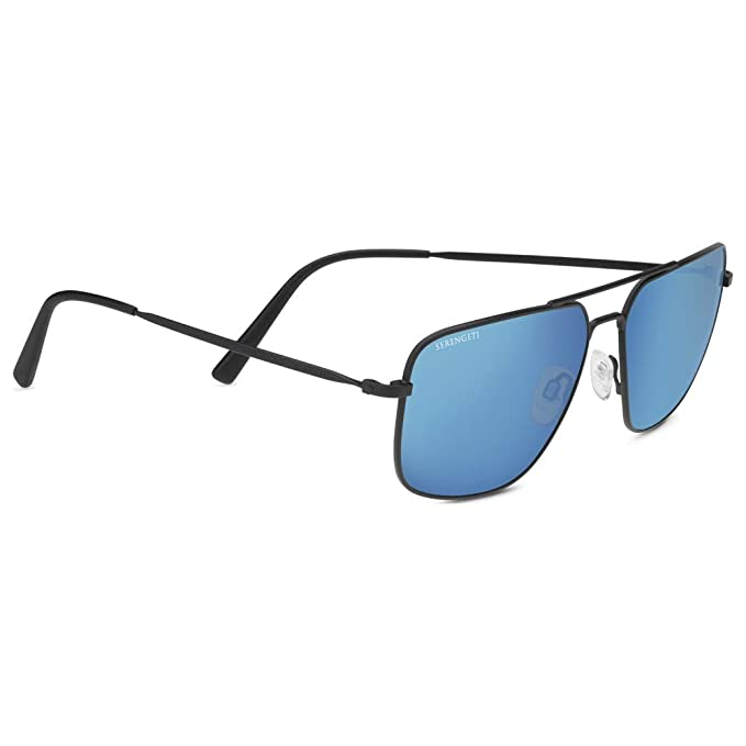 Amazon.com: Serengeti Agostino - Gafas de sol, Negro, L ...