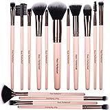 Premium Quality 15pcs Makeup Brushes Set, includes eye shadow brush, foundation brush, blush brush, concealer brush, concealer brush and deluxe fan brush, for professional makeup artists
