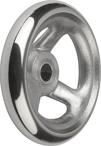 Kipp 06273-0100XCO Aluminum Handwheel without Machine Handle, Inch, 100 mm Diameter, 0.375'' Bore Size by Kipp