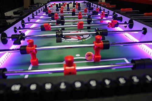 Warrior mesa fútbol 8 Hombre futbolín mesa w/LED: Amazon.es ...