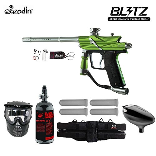 MAddog Azodin Blitz 3 Starter HPA Paintball Gun Package Green Deal (Large Image)
