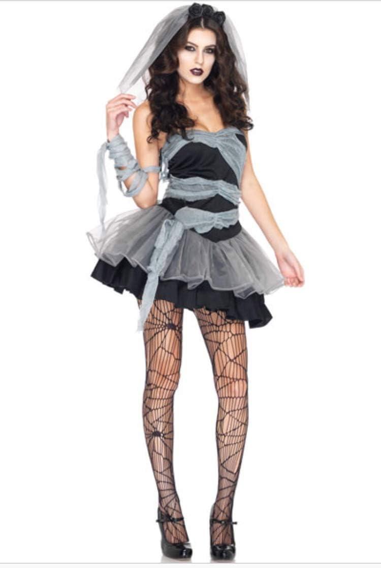 Mujer Sexy barato Disfraz Halloween Muerto Zombie Novia Disfraz ...