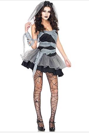 7b8b0b81fc3b7 DAMEN-SEXY billige Halloween-Kostüm DEAD Zombie-Braut OUTFIT: Amazon ...