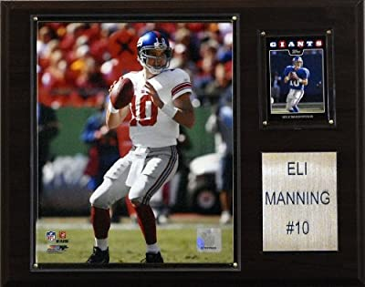 NFL Eli Manning New York Giants Player Plaque
