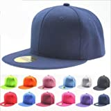 ILOVEDIY Classic Snapback Hats Blank Plain Hiphop Canvas Cap Adjustble for Boys and Girls