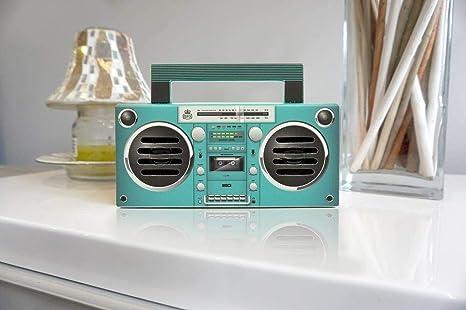 retro mini boombox bluetooth tower speaker